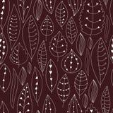 Textura sem emenda com elementos florais Teste padrão das folhas Fotos de Stock