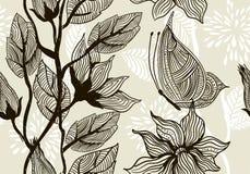 Textura sem emenda com flores à moda Fotos de Stock Royalty Free