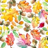 Textura sem emenda com folhas de outono Fotografia de Stock