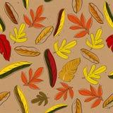 Textura sem emenda com folhas do red&yellow Ilustração Royalty Free