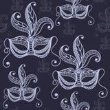 Textura sem emenda com máscara decorativa 28 Fotografia de Stock
