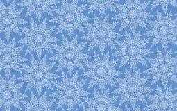 Textura sem emenda com o ornamento laçado do floco da neve Fotografia de Stock