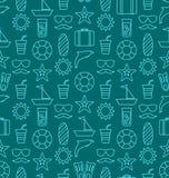 Textura sem emenda com objetos e ícones tirados mão do vocação Imagens de Stock