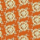 Textura sem emenda com ornamento floral Fotos de Stock Royalty Free