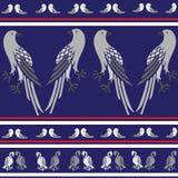 Textura sem emenda com papagaio dos pássaros, pomba, águia Fotografia de Stock