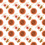 Textura sem emenda com pintura de Khokhloma Eps 10 Foto de Stock Royalty Free