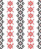 Textura sem emenda com testes padrões abstratos vermelhos e pretos Imagens de Stock