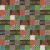 Textura sem emenda com um teste padrão gráfico dos quadrados Imagem de Stock