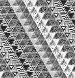 Textura sem emenda com um teste padrão gráfico dos triângulos Fotografia de Stock