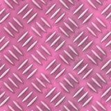 Textura sem emenda cor-de-rosa velha do teste padrão da placa de metal do diamante Imagens de Stock