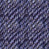 Textura sem emenda da foto da sarja de Nimes azul imagens de stock