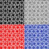 Textura sem emenda das letras ilustração do vetor