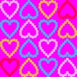 Textura sem emenda de corações coloridos. alinhador longitudinal do vetor Foto de Stock Royalty Free