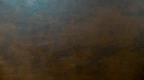 Textura sem emenda de couro escura usada do fundo do teste padrão de Brown para o material da mobília Fotografia de Stock