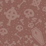 Textura sem emenda de Dia das Bruxas dos desenhos animados assustadores Fotografia de Stock Royalty Free