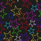 Textura sem emenda de estrelas coloridas Imagem de Stock