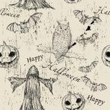 Textura sem emenda de Halloween Ilustração do Vetor