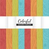 Textura sem emenda de madeira colorida do vetor Imagem de Stock Royalty Free