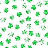 Textura sem emenda de pontos do verde da aquarela em um fundo branco ilustração stock