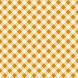 Textura sem emenda de Tan Checkered Fabric Pattern Background do vintage Fotografia de Stock Royalty Free