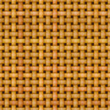 Textura sem emenda de vime do teste padrão da cestaria Imagens de Stock