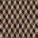 Textura sem emenda do cubo do parquet 3d Imagens de Stock Royalty Free