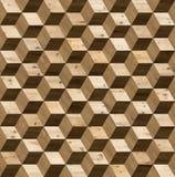 Textura sem emenda do cubo do parquet 3d Fotografia de Stock