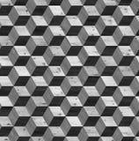 Textura sem emenda do cubo do parquet 3d Fotos de Stock