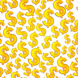 Textura sem emenda do dólar Imagens de Stock Royalty Free