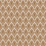 Textura sem emenda do damasco de Brown Fotografia de Stock