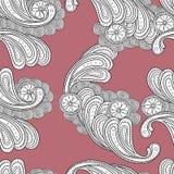 Textura sem emenda do fundo da garatuja floral Imagens de Stock