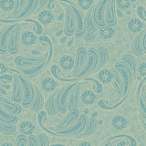 Textura sem emenda do fundo da garatuja floral Imagem de Stock Royalty Free