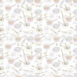Textura sem emenda do fundo do projeto da casa da cozinha Imagem de Stock