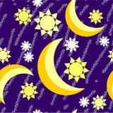 Textura sem emenda 539 do grunge da noite da lua Foto de Stock Royalty Free