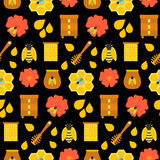 Textura sem emenda do mel preto Imagem de Stock