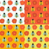 Textura sem emenda do mel sobre o branco Fotografia de Stock Royalty Free