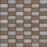 Textura sem emenda do pavimento como o paralelogramo ondulado Fotos de Stock Royalty Free
