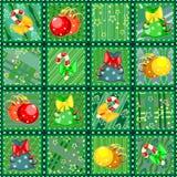 Textura sem emenda do quilt do Natal Fotos de Stock Royalty Free