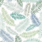 Textura sem emenda do redemoinho floral abstrato das folhas do teste padrão stylish ilustração stock