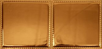 Textura sem emenda do teste padrão da tela plástica dourada Fotografia de Stock
