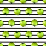 Textura sem emenda do teste padrão de Apple em um estilo realístico Imagem de Stock Royalty Free