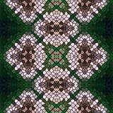 Textura sem emenda do teste padrão do caleidoscópio do mosaico Ilustração Stock