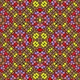 Textura sem emenda do teste padrão do caleidoscópio do mosaico Ilustração do Vetor