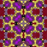 Textura sem emenda do teste padrão do caleidoscópio do mosaico Imagens de Stock