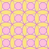 Textura sem emenda do teste padrão dos círculos ilustração royalty free