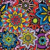 Textura sem emenda do teste padrão Indiano, árabe, elementos turcos do estilo Imagens de Stock