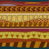 Textura sem emenda do teste padrão tribal Imagem de Stock
