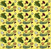 Textura sem emenda do verão dos vegetais Imagem de Stock Royalty Free