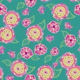 Textura sem emenda do vetor com flores abstratas Imagem de Stock Royalty Free