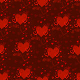 Textura sem emenda do vetor com teste padrão dos corações Dia do `s do Valentim Amor Decoração para o projeto da tela Imagem de Stock
